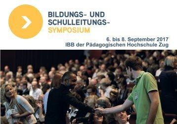 6 bis 8 September 2017 IBB der Pädagogischen Hochschule Zug