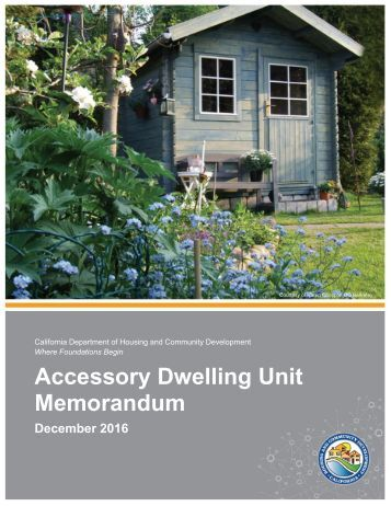 documents accessory dwelling unit