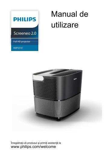 Philips Projecteur Full HD - Mode d'emploi - RON