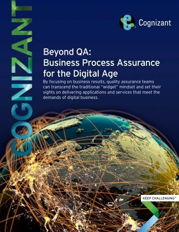 Beyond QA Business Process Assurance for the Digital Age