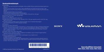 Sony NWZ-A828 - NWZ-A828 Istruzioni per l'uso Ungherese