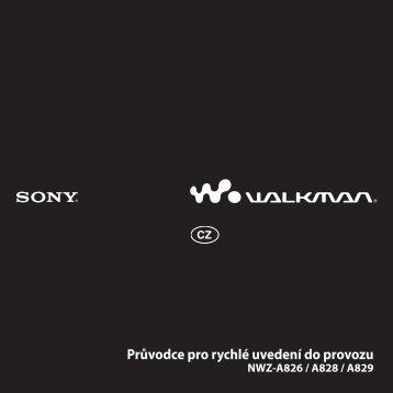 Sony NWZ-A828 - NWZ-A828 Istruzioni per l'uso Ceco