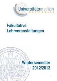 Ort - in der Universitätsmedizin Greifswald - Ernst-Moritz-Arndt