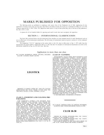 11 May 2004 - U.S. Patent and Trademark Office