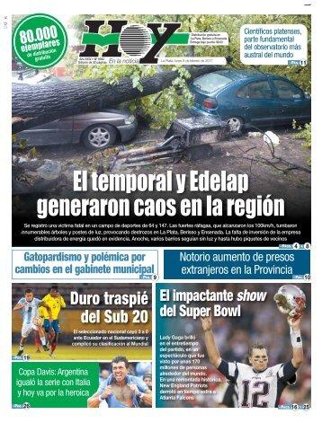 El temporal y Edelap generaron caos en la región