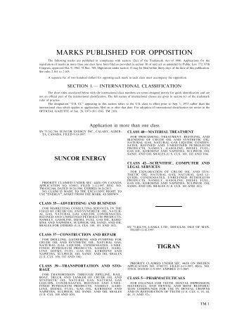 09 July 2002 - U.S. Patent and Trademark Office