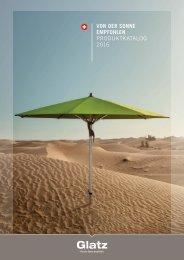 GLATZ Sonnenschirme Katalog 2016 DE