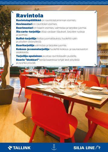 Töissä merillä - ravintolatyö 2017