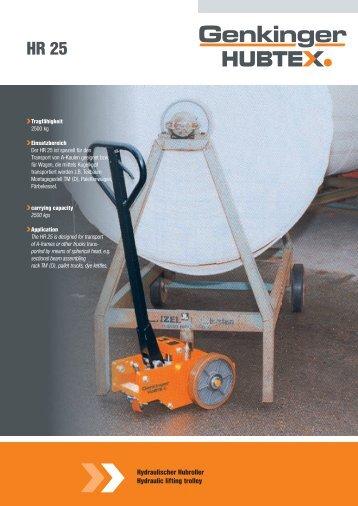 Prospekt Serie HR25, PDF 2.1 MB - Genkinger-HUBTEX GmbH
