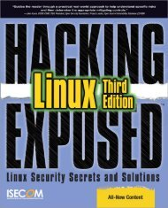Hacking Exposed - Linux.pdf - Department of Electrical Engineering ...