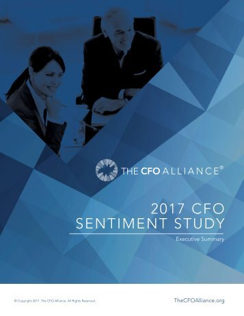 2017 CFO SENTIMENT STUDY