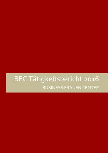 BFC Tätigkeitsbericht 2016