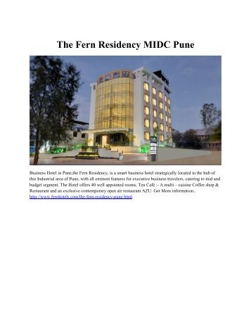 The Fern Residency MIDC Pune