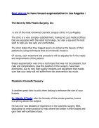 Breast Augmentation in Los Angeles - Page 2