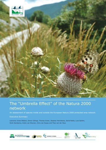 "The ""Umbrella Effect"" of the Natura 2000 network"