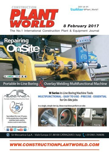Construction Plant World 8th February 2017