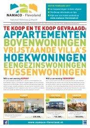 NAMACO Flevoland Woonmagazine, uitgave februari 2017
