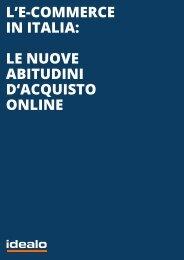 L'E-COMMERCE IN ITALIA LE NUOVE ABITUDINI D'ACQUISTO ONLINE