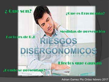 revista digital riesgos disergonomicos