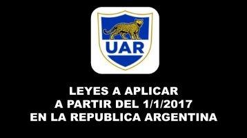 A PARTIR DEL 1/1/2017 EN LA REPUBLICA ARGENTINA