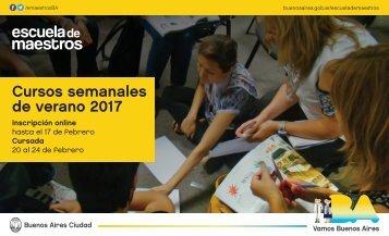 Cursos semanales de verano 2017