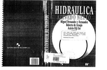 Manual de hidraulica - Azevedo Netto