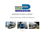 RIDERSHIP TECHNICAL REPORT