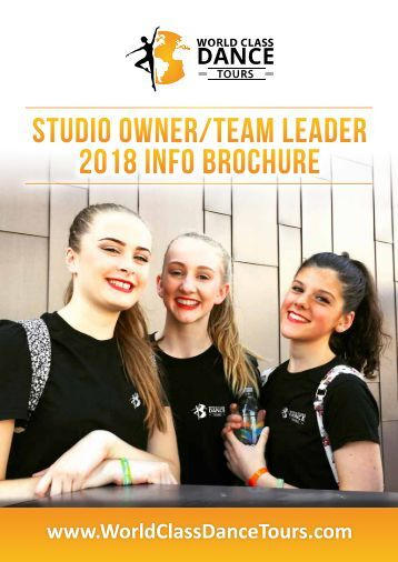 Studio Owner-Team Leader Tour Brochure 2017