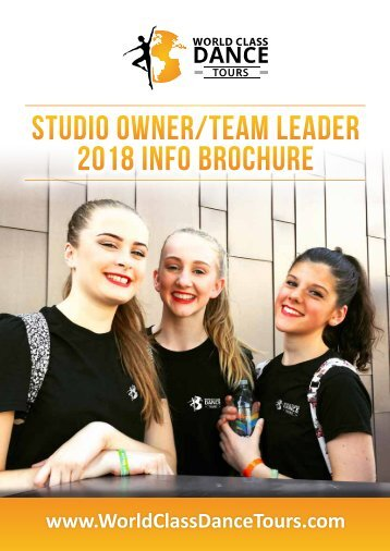 Studio Owner-Team Leader Tour Brochure 2017