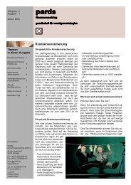 Ausgabe 1 - 01/2003 - Krankenversicherung - pards finanzcoaching ...
