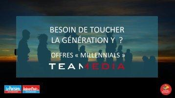 BESOIN DE TOUCHER LA GÉNÉRATION Y ?