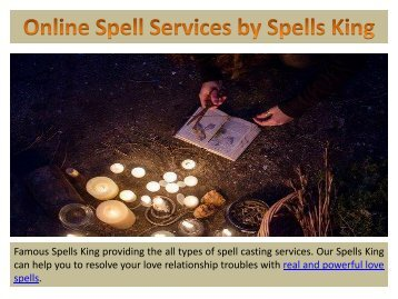 Online Spell Services by Spells King