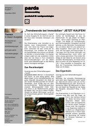 Trendwende bei Immobilien  - pards finanzcoaching GmbH