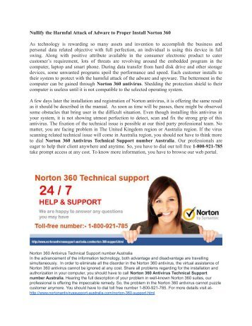 Norton 360 antivirus technical support in Australia by Phone