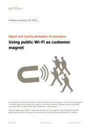 Using public Wi-Fi as customer magnet