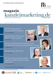 Kanzleimarketing.de Magazin - Ausgabe 1 - 2017