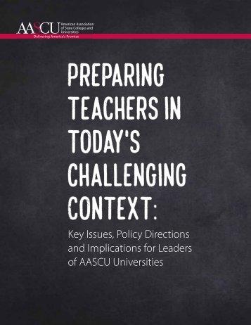 Preparing teachers in today's challenging Context
