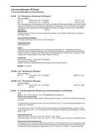 i3v-Vorlage für die Erstellung des VVZ - Fachbereich Physik
