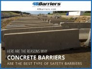 Reasons Why Concrete Barriers are the Best Type of Safety Barriers