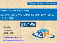 Patient Monitoring Device Equipment System Market