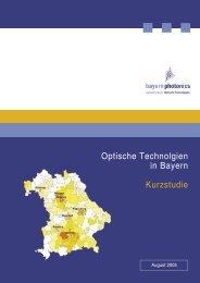 Optische Technolgien in Bayern Kurzstudie - bayern photonics eV