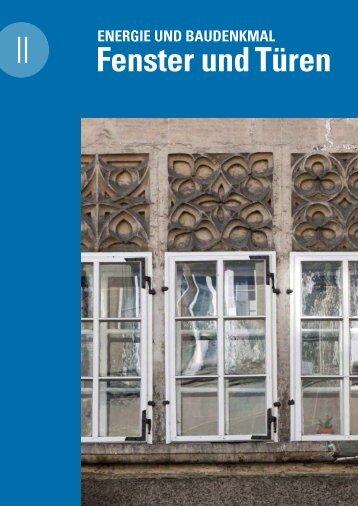 Energie und Baudenkmal 2 Fenster und Türen