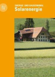 Energie und Baudenkmal 4 Solarenergie