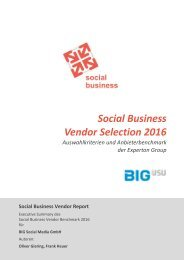 Social Business Vendor Selection 2016