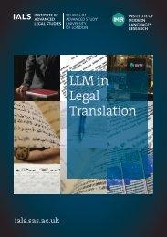 LLM in Legal Translation