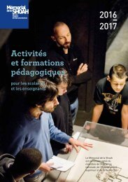 2016 2017 Activités et formations pédagogiques