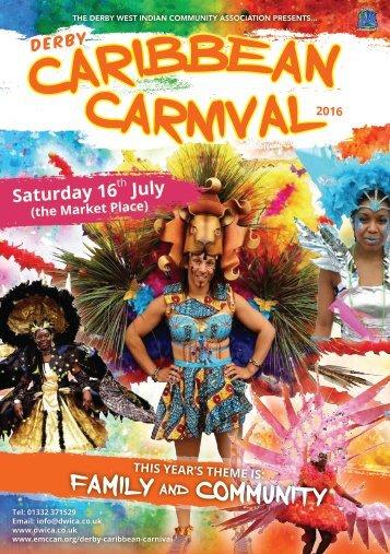 DWICA Derby Caribbean Carnival - Booklet 2016 LR