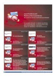 mainfrankencard Weihnachts-Gutscheine Mehr Informationen zu ...