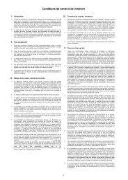 Conditions de vente et de livraison - Lissmac