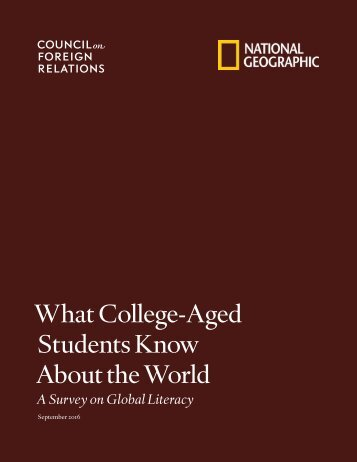 What College-Aged Students Know About the World